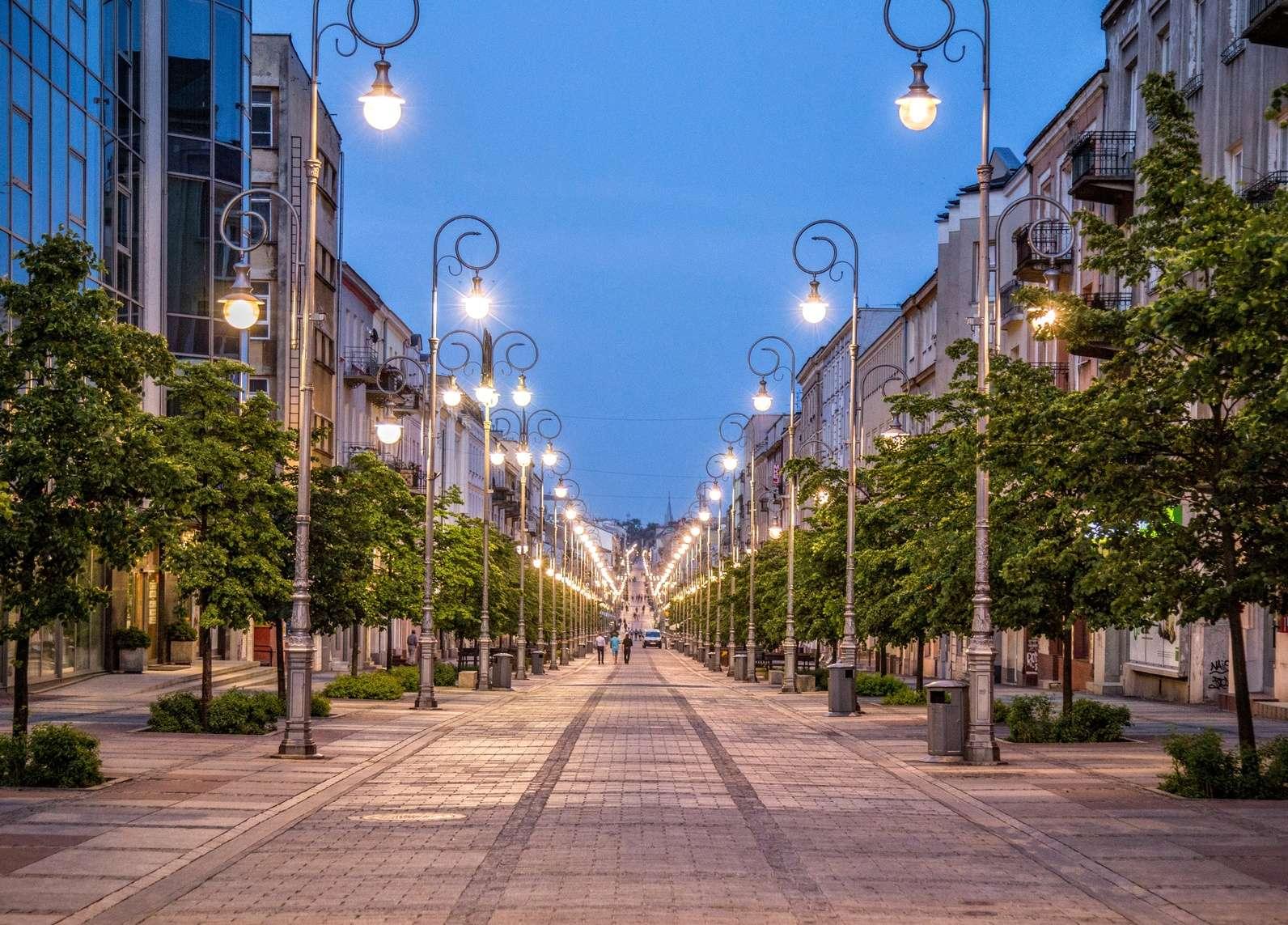 Główna ulica w Kielcach